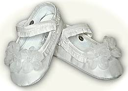 Baby's christening shoes