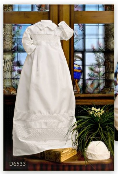 Boys christening gown and romper
