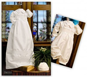 Silk Christening Gown Romper
