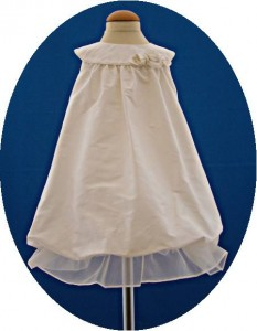 Toddlers silk christening dress