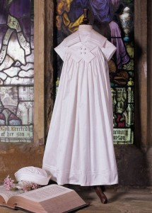 Little Darlings silk christening gown and hat