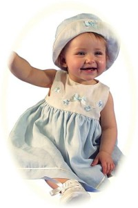 Irish linen toddler's dress for a christening