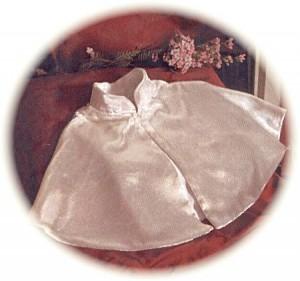 Velvet christening cape