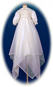 Italian Silk Christening Gown
