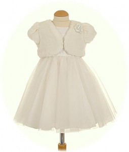 Sarah Louise christening dress with Fur Bolero
