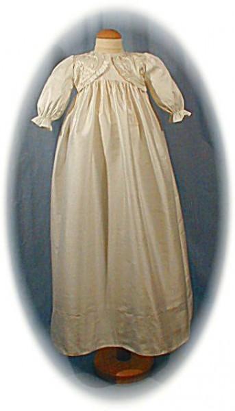 Budget price silk christening gown
