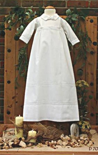 Boy's christening gown and romper.