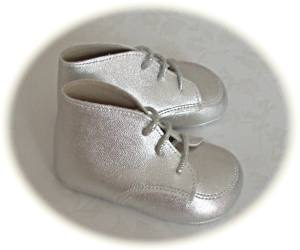 Silver baby boots