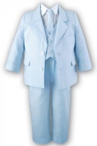 Boy's smart linen suit
