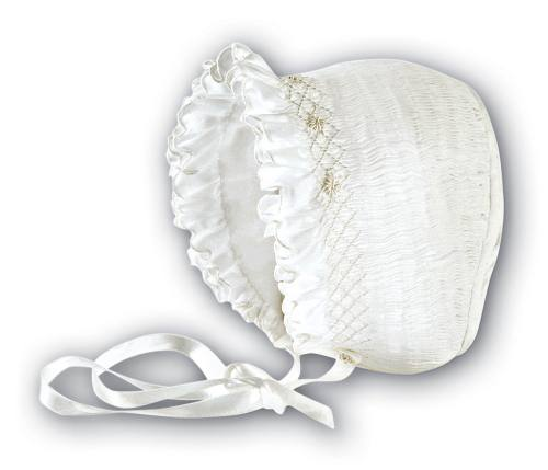 Baby's smocked bonnet