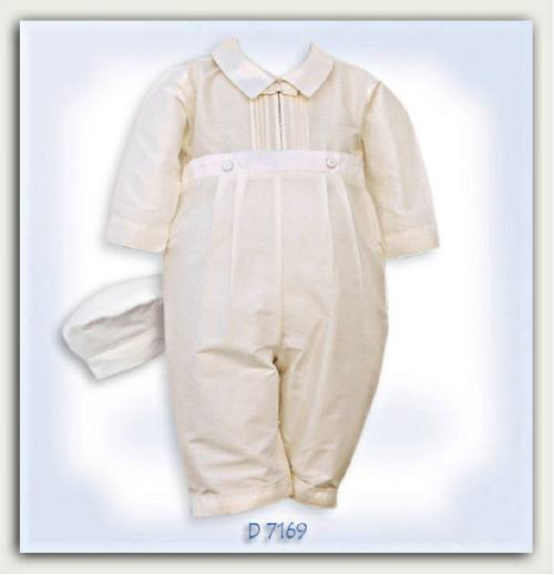 0cf8e269ed62 Honfleur Christening Gowns • Ivory silk christening suit from Pretty ...