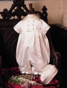 Rupert Silk Christening Suit