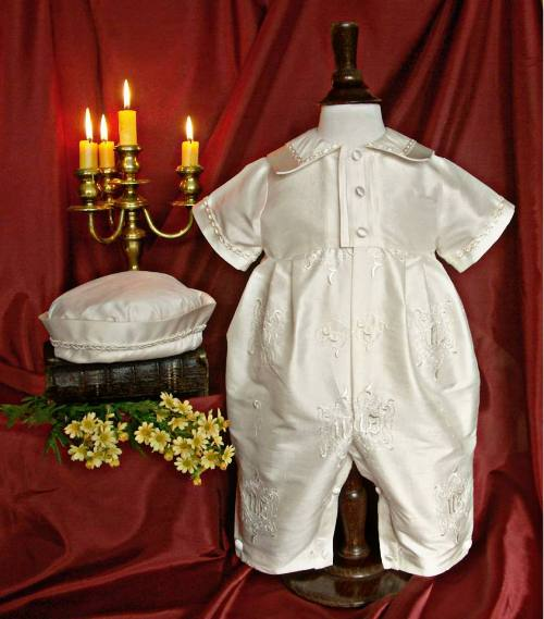 Silk Christening Suit