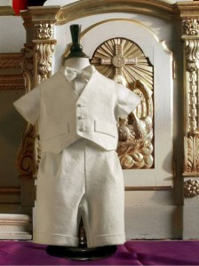 A4239 Cream Christening Suit