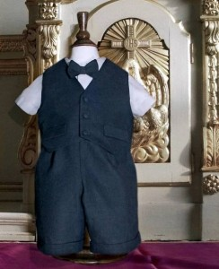 A4239 Navy Christening Suit