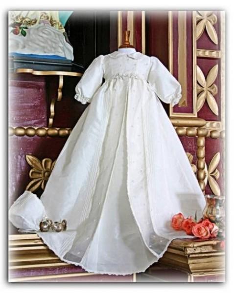Silk christening gown from Pretty Originals