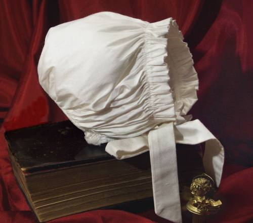 Silk christening bonnet