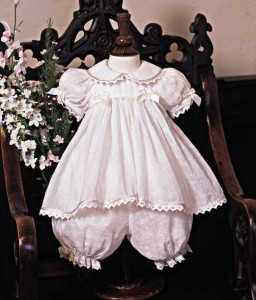 Cotton Christening Dress and Bloomers