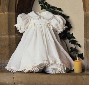 Little Darlings cotton christening dress