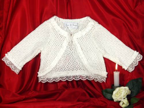 Baby's lace cardigan
