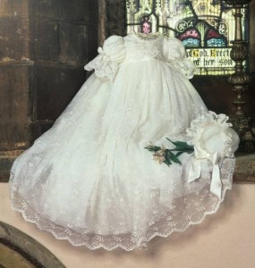 Nottingham Lace Christening Gown