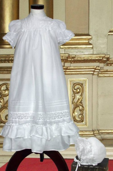 Little Darlings cotton christening gown.
