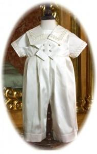 Edward Silk Christening Suit