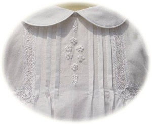 Cotton Christening Gown Bodice Detail