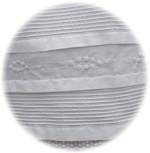 Cotton Christening Gown Hem Detail
