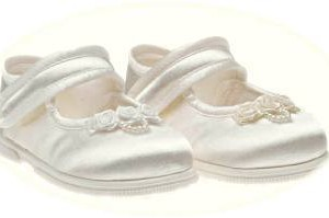 Girls' first walker christening shoes