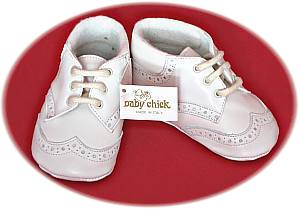 Italian leather christening boots