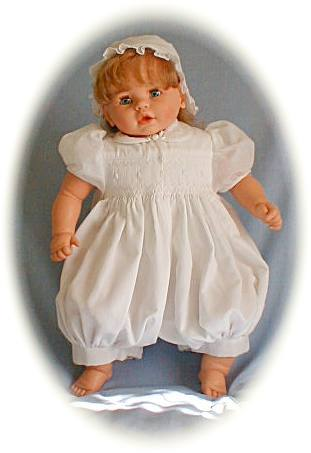 Baby girl's christening outfit