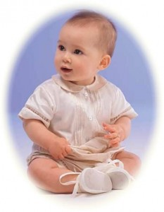 silk christening romper suit