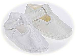 Christening shoes with Embroidered Cross