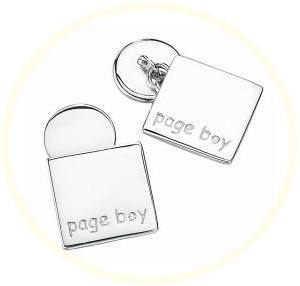 Pageboy Silver Cufflinks