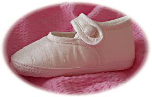Traditional christening shoes