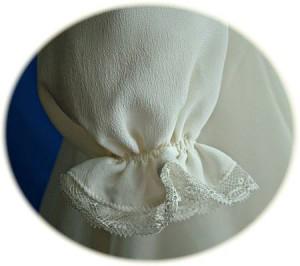 Italian Silk Christening Gown Cuff Detail