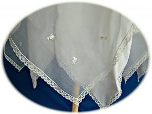 Italian Silk Christening Gown Hem Detail