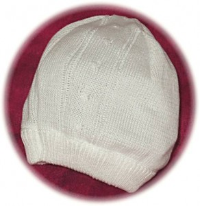 Babys knitted cotton hat.