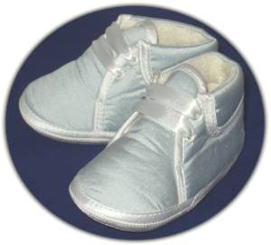 Blue Silk Christening Boots