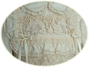 Italian Silk Christening Dress Bodice Detail