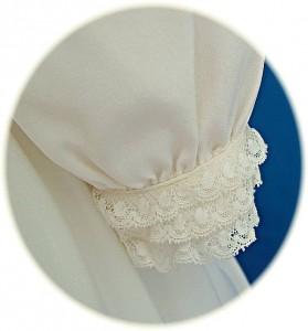 Italian Silk Christening Dress Cuff Detail