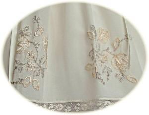 Italian Silk Christening Dress Skirt Detail
