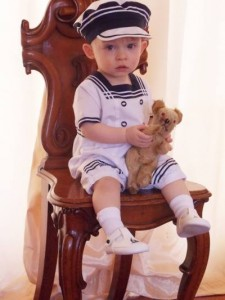 "Max in his ""Freddie"" sailor suit from Sarah Louise"