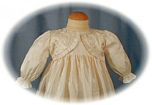 Silk Christening Gown Bodice