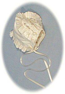 silk christening bonnet