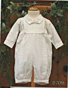 Cotton christening romper