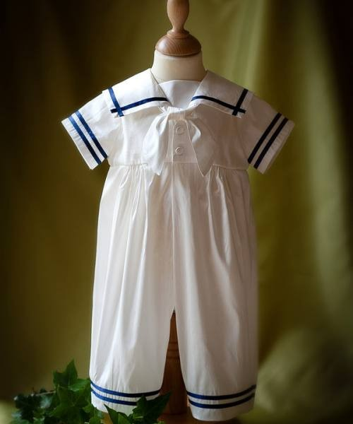 """Noah"" silk sailor suit"