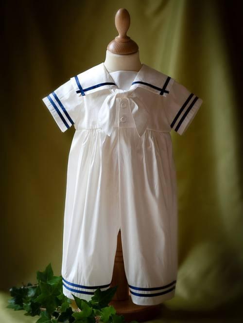 """""""Noah"""" silk sailor suit"""