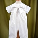 """Noah"" silk sailor suit with Sky Trim"